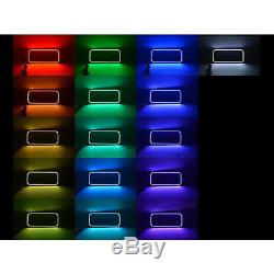 08-10 Ford F-250 Multi-Color Changing Shift LED RGB Halo Headlight Rings Set IR