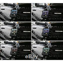09-16 Dodge Ram Sport Multi-Color Changing LED Headlight Halo Ring BLUETOOTH Set