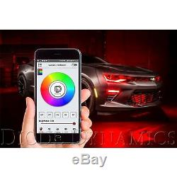 10-13 Chevy Camaro RS RGBW LED Multi-Color Headlight Accent DRL with Bluetooth Set