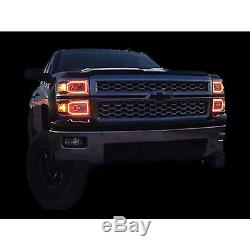 14-16 Chevy Silverado Multi-Color Changing LED RGB SMD Headlight Halo Ring Set