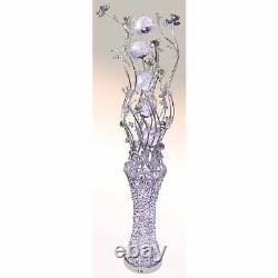 150cm Silver LED Crystals Colour Changing Aluminium Artificial Flower Lamp Light