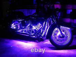 18 Color Change Led Cross Country Motorcycle 16pc Motorcycle Led Strip Kit