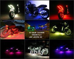 18 Color Change Led Road Glide Motorcycle 16pc Motorcycle Led Strip Light Kit