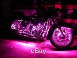 18 Color Change Led Road King Motorcycle 16pc Motorcycle Led Neon Light Kit
