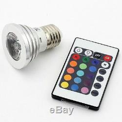 200 E27 3W RGB LED 16 Color Changing Light Bulb + IR Remote Control US Seller