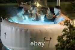 2021 Brand NEW Lay Z Spa PARIS 4-6 Person Hot Tub LED Lights with Freeze Shield