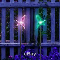 2X Solar Powered Hummingbird Landscape Garden Stake Color Changing LED Light