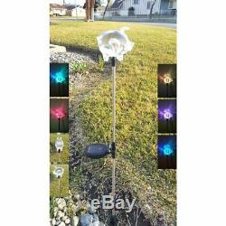 2X Solar Powered Pig Landscape Garden Stake Color Changing LED Light