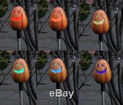 2X Solar Powered Tall Pumpkin Landscape Garden Stake Color Changing LED Light