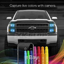 2nd Gen H7 2in1 Bright 6000K LED Headlight Bulbs + Color Changing Devil Eye
