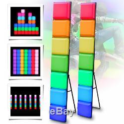 2x LEDJ RGB DJ Disco Stage Club Party LED Colour Changing free Standing Mood Bar