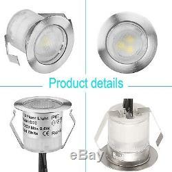 30mm 12V IP67 RGB Colour Changing LED Deck Lights Kitchen/Garden Lighting