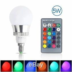 3W 5W 10W E27/E14 RGB LED Light Bulb Color Changing Energy Saving+Remote Control