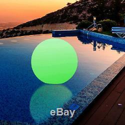 40cm Mood Glow Ball Lamp Outdoor Waterproof Orb Globe LED Light by PK Green