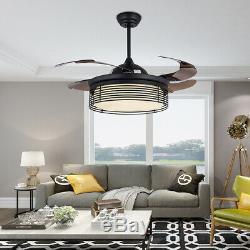 42 LED Light Ceiling Fan 3 Types Color Change Adjustable with Remote Control