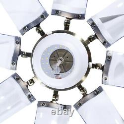 42 Modern Chandelier Ceiling Fan With Light Invisible 8 Blades 3 Color Change