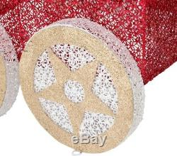 48 in. Mesh String Train Set Christmas Decoration with 200 Warm White LED Lights