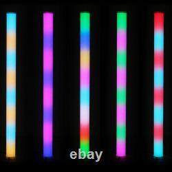 4 x Equinox Pulse Tube Lithium LED Rainbow Colour Changing DJ Disco Party Light