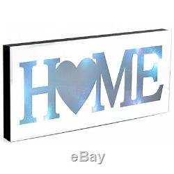 50cm Mirror Home Led Colour Changing Glass Plaque Gift Mantel Wall Mountable