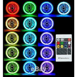 5-3/4 RF RGB SMD Color Change White Red Blue Green LED Halo Angel Eye Headlights