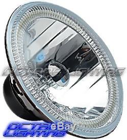 5-3/4 RF RGB SMD Multi-Color Change Halo Angel Eye Shift H4 LED Headlights Pair