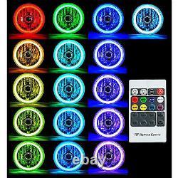 5-3/4 RGB SMD Color Change White Red Blue Green LED Halo Angel Eye Headlight Set