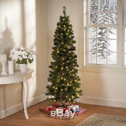 5-Foot Pre-Lit 200 LED Color-Changing Lights Pencil Christmas Tree