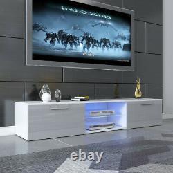 63 Modern LED TV Unit Cabinet TV Stand Cabinet Matt Body High Gloss Door Drawer