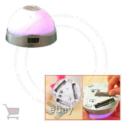 7 Colour Changing Digital LCD Alarm Clock Snooze LED Light Projector Time UKES