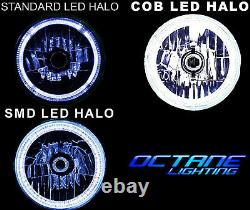 7 RGB SMD LED Multi-Color White Red Blue Green Halo Angel Eye Headlights Pair