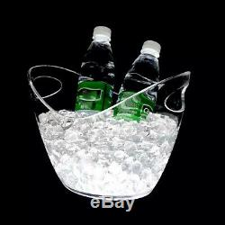 8 LTR Ice Container Wine Bucket Rechargeable LED Color Changing Party Bar Cooler