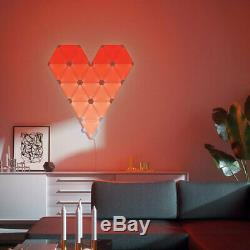 9pc Nanoleaf Light Panels App Controlled Smarter Kit Wall Lights Rhythm Edition