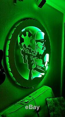 AK47 LED light up sign assault rifle night light Color changing