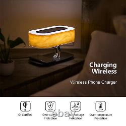 Bedside Table Light Built-in Bluetooth Speaker & Wireless Charger, Tree-shaped