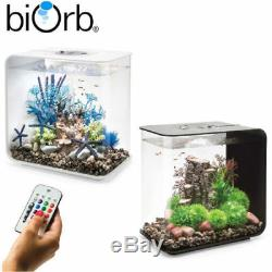 Biorb Flow 15 30 MCR LED Colour Change Black White Aquarium Fish Tank