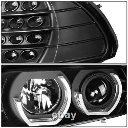 Black 3D Angel Eyes Headlight+LED Signal+RGB Color Change for 1996-2003 BMW E39