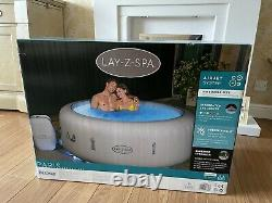 Brand NEW Lay Z Spa PARIS 4-6 Person Hot Tub With LED Lights + Freeze Shield