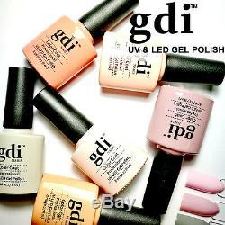 Brand New, GDi Nails Nude Pastel Colours Range UV LED Gel Nail Polish, Free Post