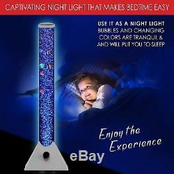 Bubble Tube With Colour Changing LED Lights Sensory Tool Stress Relief Kids Gift