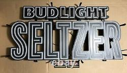 Bud Light Seltzer Color Changing LED Opti Neon Beer Sign 32x17 Brand New In Box