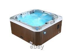 CAMBRIDGE 5-Person Hot Tub Spa 34 Jet 5HP Aromatherapy LEDs Bluetooth Waterfall