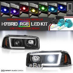 COLOR-CHANGING LOW BEAM 99-06 GMC Sierra Yukon XL LED Neon Tube Headlights SET
