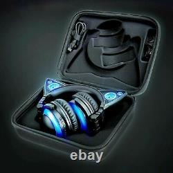 Cat Ear Headphones LED Function Wireless Color Changing AXENT WEAR Near Mint