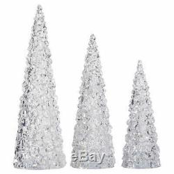 Christmas LED Holiday Trees, Set of 3 Acrylic Lights Decoration COLOR Changes