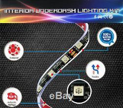 Color Changing LED Interior Car Under Dash Footwell Seats Inside Lighting Strip