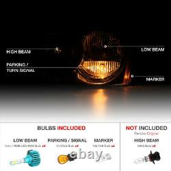 Color Changing LED Low Beam For 05-07 Jeep Grand Cherokee Headlights Assembly