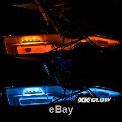 Color Changing Strip 4pc 36 Strip + 4pc 10 Strip Boat LED Neon Lighting Kit