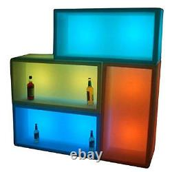 Colour Changing LED 120cm x 40cm x 40cm Ice Box Trough Champagne, Wine or Beer