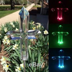 Cross Solar Light Landscape Garden Stake Outdoor Decoration Color Change LED