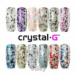 Crystal-G CONFETTI SEQUINS P-RANGE UV/LED GEL NAIL POLISH. ONLY IN UK EBAY